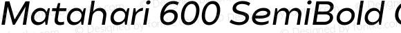 Matahari 600 SemiBold Oblique