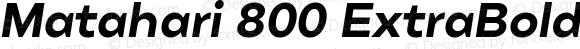 Matahari 800 ExtraBold Oblique