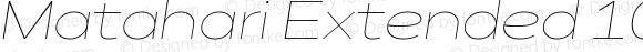 Matahari Extended 100 Extended Thin Oblique