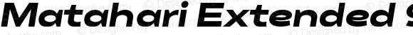 Matahari Extended 900 Extended Black Oblique