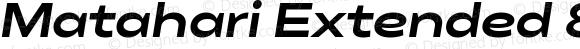 Matahari Extended 800 Extended ExtraBold Oblique