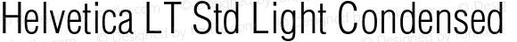 Helvetica LT Std Light Condensed