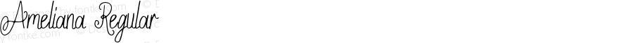 Ameliana Regular Version 1.00;February 2, 2019;FontCreator 11.5.0.2430 32-bit