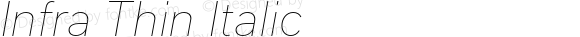 Infra Thin Italic
