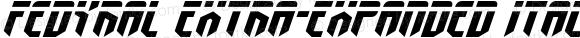 Fedyral Extra-Expanded Italic Extra-Expanded Italic