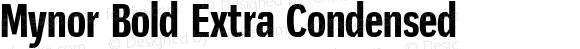 Mynor Bold Extra Condensed