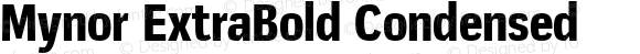 Mynor ExtraBold Condensed
