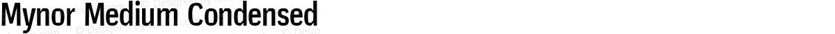 Mynor Medium Condensed