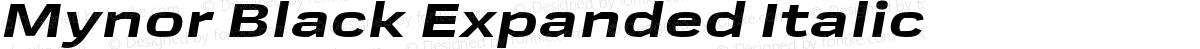 Mynor Black Expanded Italic