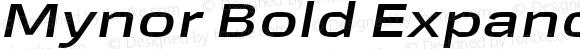 Mynor Bold Expanded Italic