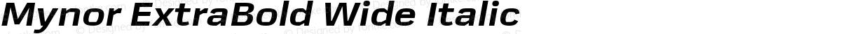 Mynor ExtraBold Wide Italic