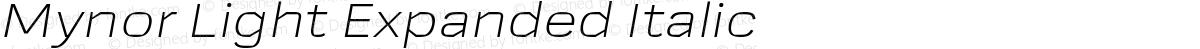 Mynor Light Expanded Italic