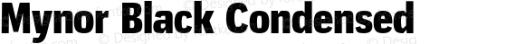 Mynor Black Condensed
