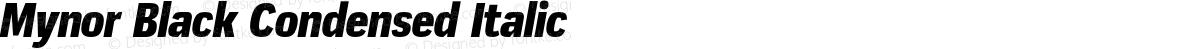 Mynor Black Condensed Italic