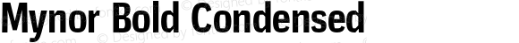 Mynor Bold Condensed