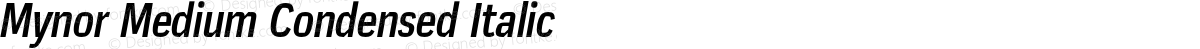 Mynor Medium Condensed Italic