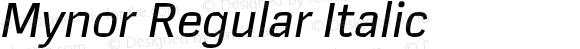 Mynor Regular Italic
