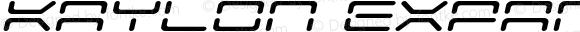 Kaylon Expanded Italic Expanded Italic