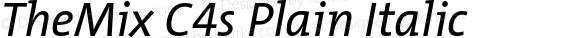TheMix C4s Plain Italic
