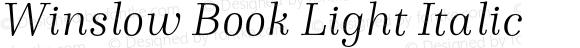 Winslow Book Light Italic
