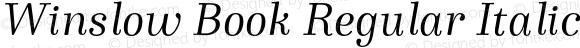 Winslow Book Regular Italic