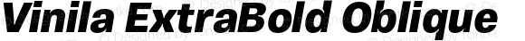 Vinila ExtraBold Oblique