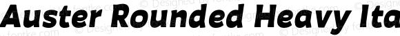 Auster Rounded Heavy Italic