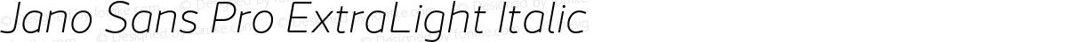 Jano Sans Pro ExtraLight Italic