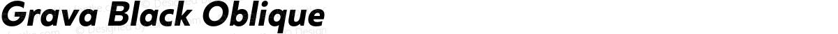 Grava Black Oblique