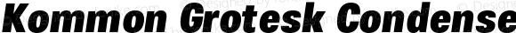 Kommon Grotesk Condensed Black Italic