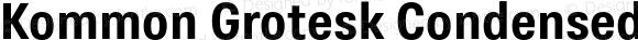Kommon Grotesk Condensed Bold