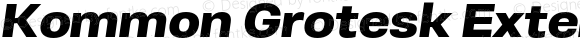 Kommon Grotesk Extended Black Italic