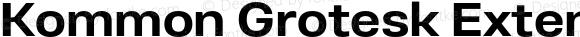 Kommon Grotesk Extended Bold