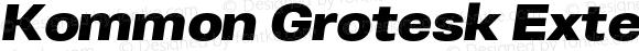 Kommon Grotesk Extended Heavy Italic