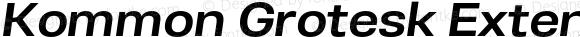 Kommon Grotesk Extended SemiBold Italic