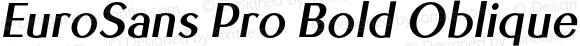 EuroSans Pro Bold Oblique