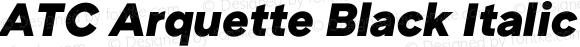 ATC Arquette Black Italic