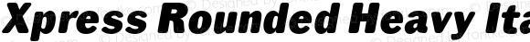 Xpress Rounded Heavy Italic