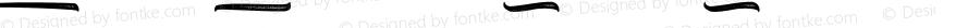 Kaktoes Underline Rought Regular Version 1.000