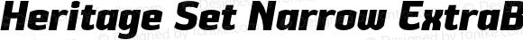 Heritage Set Narrow ExtraBold Italic