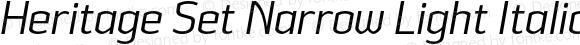 Heritage Set Narrow Light Italic