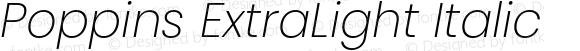 Poppins ExtraLight Italic