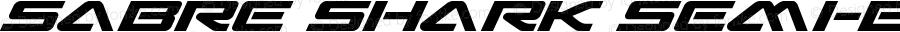 Sabre Shark Semi-Bold Semi-Expanded Semi-Bold Semi-Expanded Version 1.0; 2018
