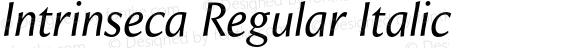 Intrinseca Regular Italic