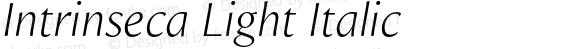 Intrinseca Light Italic
