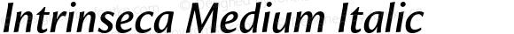 Intrinseca Medium Italic