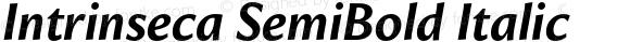Intrinseca SemiBold Italic