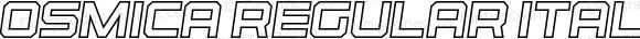 Osmica Regular Italic Outline