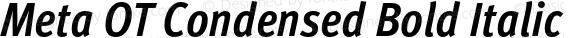 Meta OT Condensed Bold Italic