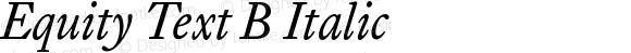 Equity Text B Italic